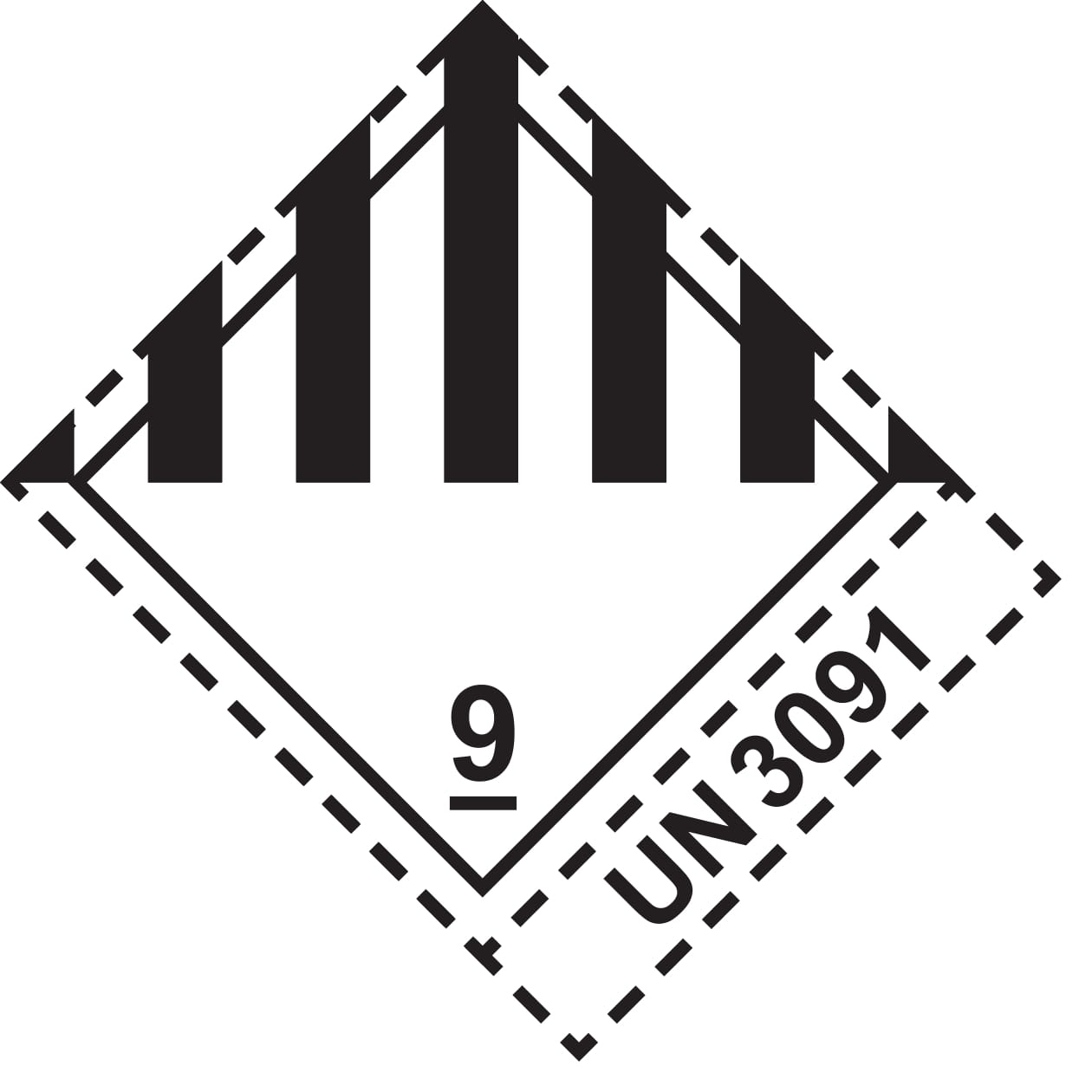 dangerous goods label-kl9-3091