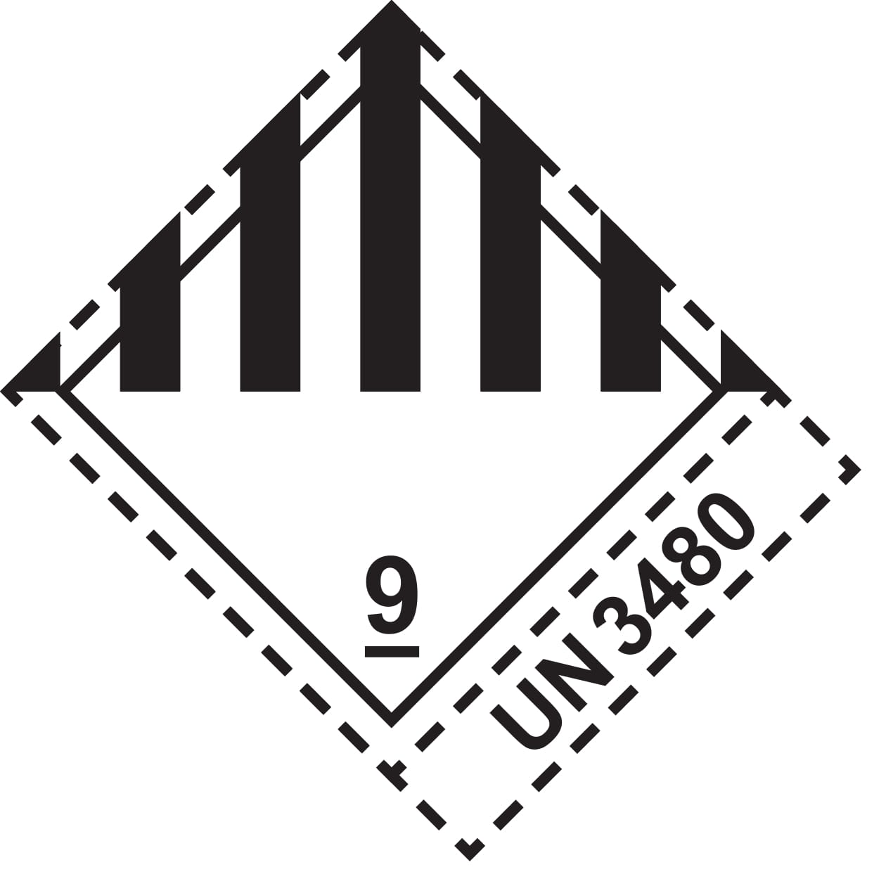 dangerous goods label-kl9-3480-1