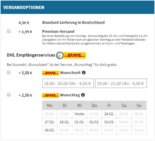 DHL-Empfänger-Service